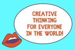 Pisać nutowemu seansowi Kreatywnie główkowaniu Dla Everyone W świacie Biznesowa fotografia pokazuje Rozciągniętą twórczość inny S ilustracji