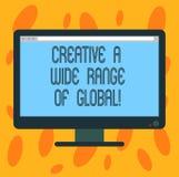 Pisać nutowemu seansowi Kreatywnie szerokim zakresie Globalny Biznesowa fotografia pokazuje Rozciągniętego twórczość Pustego komp ilustracja wektor