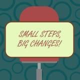 Pisać nutowemu seansowi Małych krokach Duże zmiany Biznesowy fotografii pokazywać Robi małym rzeczom osiągać wielkich cele Pustyc ilustracji