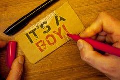Pisać nutowemu seansowi Nim S chłopiec Motywacyjny wezwanie Biznesowe fotografie pokazuje Męskiego dziecka są nadchodzącym rodzaj Fotografia Stock