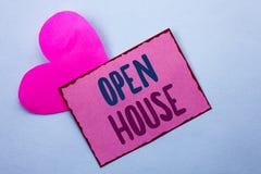 Pisać nutowemu seansowi Otwartym domu Biznesowa fotografia pokazuje Domowego Majątkowego Mieszkaniowego Wewnętrznego Zewnętrznego Zdjęcia Stock