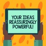 Pisać nutowemu seansowi Twój pomysłach Reassuringly Potężnych Biznesowa fotografia pokazuje władzy tranquillity w twój myślach Hu ilustracja wektor