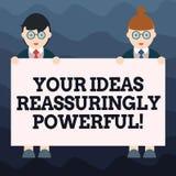 Pisać nutowemu seansowi Twój pomysłach Reassuringly Potężnych Biznesowa fotografia pokazuje władzy tranquillity w twój myślach ilustracja wektor