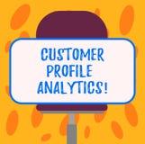 Pisać nutowych pokazuje klienta profilu analityka Biznesowa fotografia pokazuje klienta profil lub rynek docelowy analizę ilustracji