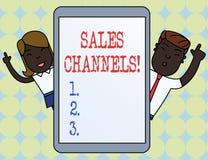 Pisać nutowych pokazuje sprzedaż kanałach Biznesowy fotografii pokazywać wymaga biznesowy sprzedawać bezpośrednio swój klienci ilustracja wektor