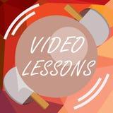 Pisać nutowych pokazuje Wideo lekcjach Biznesowa fotografia pokazuje Online edukacja materiał dla tematu uczenie i Viewing ilustracji