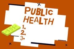 Pisać nutowych pokazuje zdrowie publiczne Biznesowa fotografia pokazuje Promujący zdrowych style życia społeczność i swój ilustracja wektor