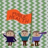 Pisać nutowych pokazuje zdrowie publiczne Biznesowa fotografia pokazuje Promujący zdrowych style życia społeczność i swój ilustracji