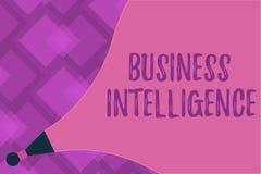 Pisać nutowym pokazuje business intelligence Biznesowa fotografia pokazuje najlepsza praktyka Optymalizować informacja royalty ilustracja