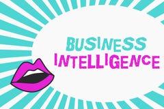 Pisać nutowym pokazuje business intelligence Biznesowa fotografia pokazuje najlepsza praktyka Optymalizować informacja ilustracja wektor