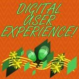 Pisać nutowym pokazuje Cyfrowego użytkownika doświadczeniu Biznesowa fotografia pokazuje demonstrujący s jest emocjami o używać a ilustracja wektor