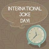 Pisać nutowym pokazuje Międzynarodowym dowcipu dniu Biznesowa fotografia pokazuje wakacje świętować korzyść dobry humor ilustracja wektor