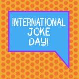Pisać nutowym pokazuje Międzynarodowym dowcipu dniu Biznesowa fotografia pokazuje wakacje świętować korzyść dobry humor ilustracji