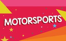 Pisać nutowym pokazuje Motorsports Biznesowa fotografia pokazuje Konkurencyjnych wydarzenia sportowe które wymagają zmotoryzowany ilustracja wektor