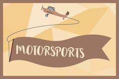 Pisać nutowym pokazuje Motorsports Biznesowa fotografia pokazuje Konkurencyjnych wydarzenia sportowe które wymagają zmotoryzowany ilustracji