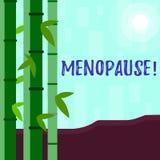 Pisać nutowym pokazuje przekwitaniu Biznesowa fotografia pokazuje zaprzestanie miesiączek Starych kobiet hormonalnych zmian okres ilustracji