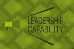Pisać nutowym pokazuje przywódctwo potencjale Biznesowy fotografii pokazywać jaki lider może budować pojemność Prowadzić royalty ilustracja