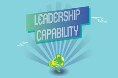 Pisać nutowym pokazuje przywódctwo potencjale Biznesowy fotografii pokazywać jaki lider może budować pojemność Prowadzić Efektywn ilustracja wektor