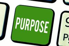 Pisać nutowym pokazuje Purpose Biznesowa fotografia pokazuje powód dla robić coś Pragnący Bramkowy cel Planujący zdjęcie royalty free