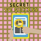 Pisać nutowym pokazuje sekrecie sukces Biznesowa fotografia pokazuje Niewytłumaczonego doścignięcie sława status społeczny lub bo ilustracji