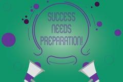 Pisać nutowym pokazuje sukcesie Potrzebuje przygotowanie Biznesowa fotografia pokazuje gotowość dla przyszłości osiągać celów Dwa fotografia stock