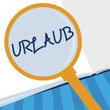 Pisać nutowym pokazuje Urlaub Biznesowa fotografia pokazuje urlop nieobecność od praca wakacje wakacje Ma zabawę w royalty ilustracja