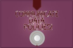 Pisać nutowym seansie Komunikuje dane polisy Biznesowa fotografia pokazuje ochronę przekaz poufny ilustracja wektor