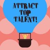 Pisać nutowym seansie Przyciąga Odgórnego talent Biznesowa fotografia pokazuje wyznaczający pracownika który umiejętności i dobre royalty ilustracja