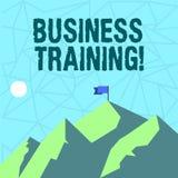Pisać nutowym seansu biznesu szkoleniu Biznesowa fotografia pokazuje wzrastający umiejętności siła robocza i wiedzę ilustracji
