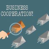 Pisać nutowym seansu biznesu współpracy Biznesowa fotografia pokazuje biznesy pracować wpólnie dla wzajemnej korzyści royalty ilustracja