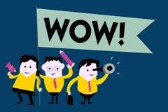 Pisać nutowym seansu no! no! Biznesowa fotografia pokazuje Rewelacyjnego sukcesu odciśnięcie i ekscytuje someone Ekspresowa admir royalty ilustracja