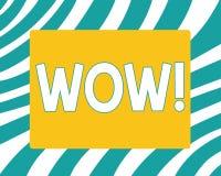 Pisać nutowym seansu no! no! Biznesowa fotografia pokazuje Rewelacyjnego sukcesu odciśnięcie i ekscytuje someone Ekspresowa admir ilustracja wektor