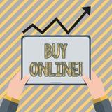 Pisać nutowym seansu zakupie Online Biznesowa fotografia pokazuje elektronicznego handel który pozwoli konsumentów bezpośrednio k ilustracji