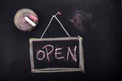 Pisać otwarty Obrazy Stock