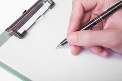 Pisać ręce Obrazy Stock