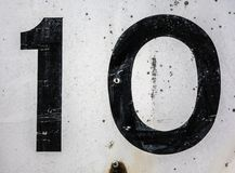 Pisać sformułowania w Zakłopotana typografia Znajdującej stan liczbie 10 Dziesięć Obraz Royalty Free