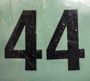 Pisać sformułowania w Zakłopotanym stanie typografia Znajdująca liczba Czterdzieści cztery 44 fotografia royalty free