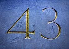 Pisać sformułowania w Zakłopotanym stanie typografia Znajdująca liczba Czterdzieści trzy 43 obraz royalty free