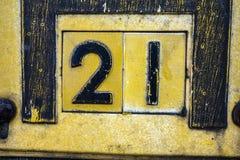 Pisać sformułowania w Zakłopotanym stanie typografia Znajdująca liczba 21 dwadzieścia Jeden Obraz Stock