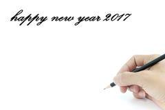 Pisać szczęśliwego nowego roku Zdjęcie Stock