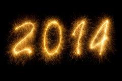 2014 pisać w lśnienie listach zdjęcie royalty free