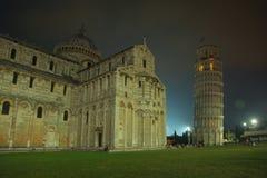 Pisa на ноче Стоковые Фотографии RF