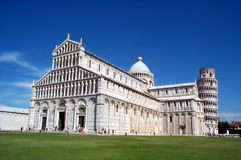 Pisa 1. Pisa - famous tower and cathedral. Romanesque style royalty free stock photography
