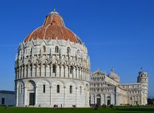 Pisa. The Piazza del Duomo (Cathedral Square) is in the city of Pisa, Italy. It is  recognized as one of the main centers for medieval art in the world. It is Stock Image