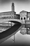 Pisa Arno Arch Tower Vert BW Royalty Free Stock Photos