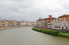 Pisa and the Arno river Royalty Free Stock Photography