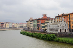 Pisa and the Arno river Stock Image