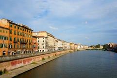 Pisa Arno river Stock Photo