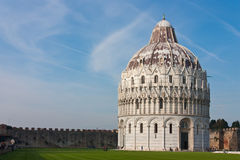Pisa, Baptisery, Dome. Baptisery of Duomo from Pisa, near Leaning Tower of Pisa stock images