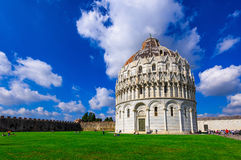 The Pisa Baptistery of St. John Battistero di San Giovanni di Pisa in Pisa, Tuscany, Italy. The Pisa Baptistery became the second building, in chronological Stock Photography